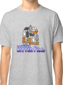 Super Kitten Pile (Logo) Classic T-Shirt