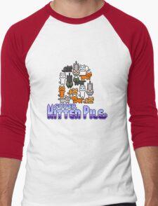 Super Kitten Pile (Logo) Men's Baseball ¾ T-Shirt