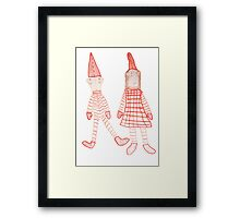 Holly Jolly Christmas Elves Framed Print