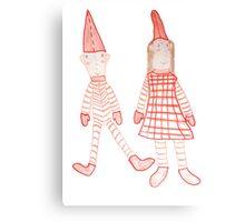 Holly Jolly Christmas Elves Canvas Print