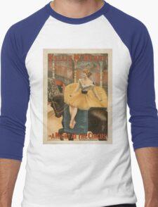 Vintage poster - A Night at the Circus Men's Baseball ¾ T-Shirt