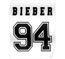 BIEBER - 94 // Black Text Poster
