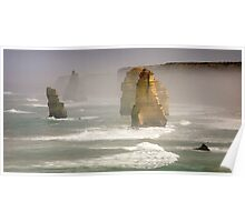 In morning mist - 12 Apostles Poster