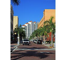 Downtown on First Street Photographic Print