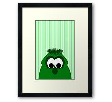 Silly Little Dark Green Monster Framed Print