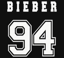 BIEBER - 94 // White Text by INEFFABLE Designs