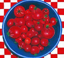 Bowl of Cherries (tomato) by Barbara  Strand