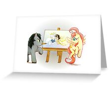 Horse-Drawn Marriage Greeting Card