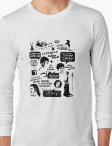 Merlin Quotes Long Sleeve T-Shirt