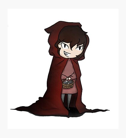 Evil Red Riding Hood Photographic Print