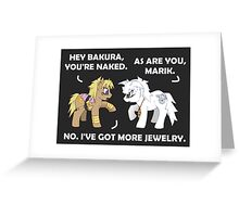 Marik and Bakura Ponies Greeting Card