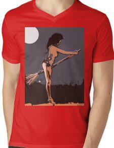 SEXY WITCH Mens V-Neck T-Shirt