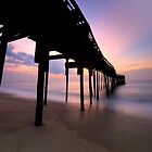 Avon Pier Sunrise, OBX by Michael Treloar