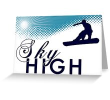 sky high snowboard Greeting Card