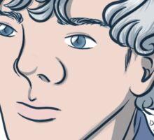 Unicorn Sherlock (White) Sticker