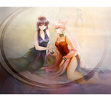 Tainted: Mistress Nine and Black Lady by Achiru