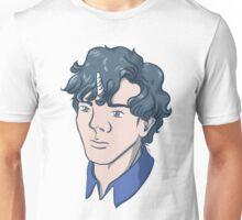 Unicorn Sherlock (Black) Unisex T-Shirt