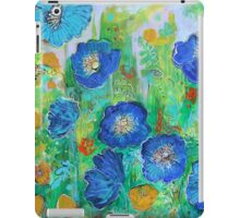 Blue Poppy Garden iPad Case/Skin