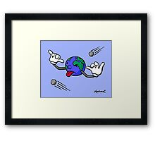 Impact Craters Hurt Framed Print