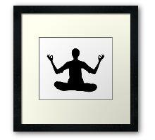 peaceful pose Framed Print
