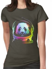 Astronaut Panda Womens Fitted T-Shirt