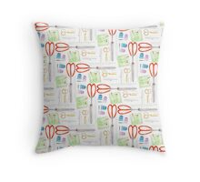 Notions - Scissors and Tools Throw Pillow