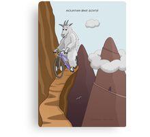 Mountain Bike Goats Canvas Print