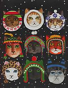 Cats in Winter Hats by Anni Morris