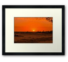 hay plains sunset glencoe road Framed Print