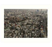 Tokyo Urban Lanscape Art Print