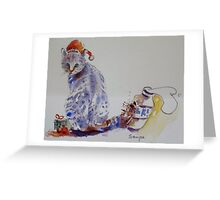 Naughty cat Greeting Card