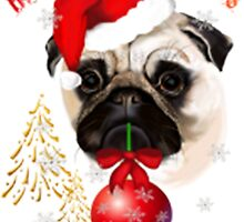 A Mightly Christmas Pug by HotTShirts