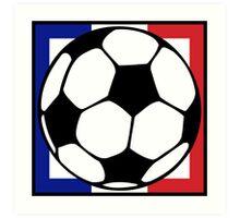 futbol : francaise square Art Print