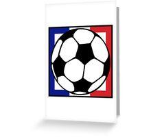 futbol : francaise square Greeting Card