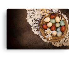 Spring Primative Nest Canvas Print