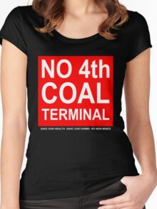 Coal Terminal Action Group placard shirt Women's Fitted Scoop T-Shirt