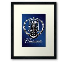 Cadalek in Tardis Blue Framed Print