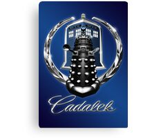 Cadalek in Tardis Blue Canvas Print