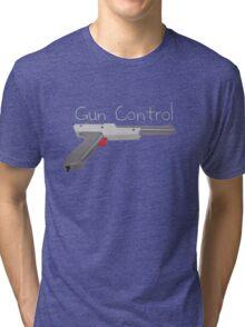 """Gun Control"" Nintendo Controller Tri-blend T-Shirt"