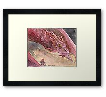 The Temptation of Smaug Framed Print