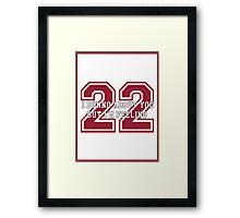 22 Sport Jersey  Framed Print