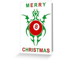 merry christmas pool player Greeting Card