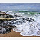 Surf, Reid State Park ,Maine by Dave  Higgins
