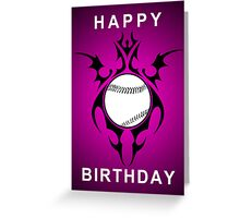 happy birthday softball Greeting Card