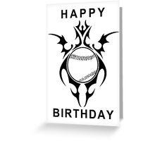 happy birthday baseball Greeting Card