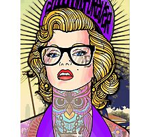 Hipster Monroe Photographic Print