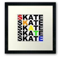 skate textstacks Framed Print
