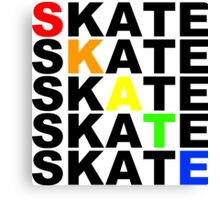 skate textstacks Canvas Print