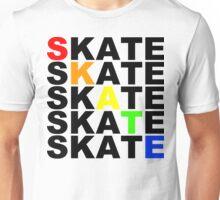 skate textstacks Unisex T-Shirt