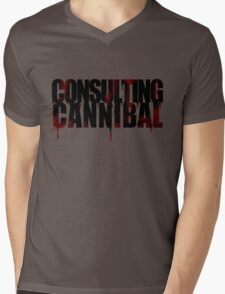 CONSULTING CANNIBAL Mens V-Neck T-Shirt